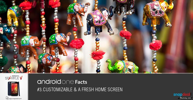 Android One Fact #3. Customizable and a fresh home screen. Get it here: http://bit.ly/-SparkleV