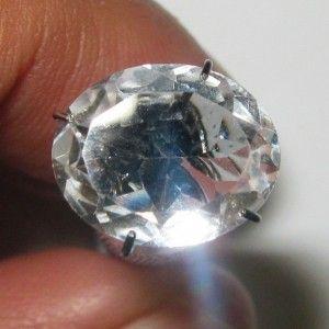 Oval White Topaz 3.46 carat Terang Seperti berlian