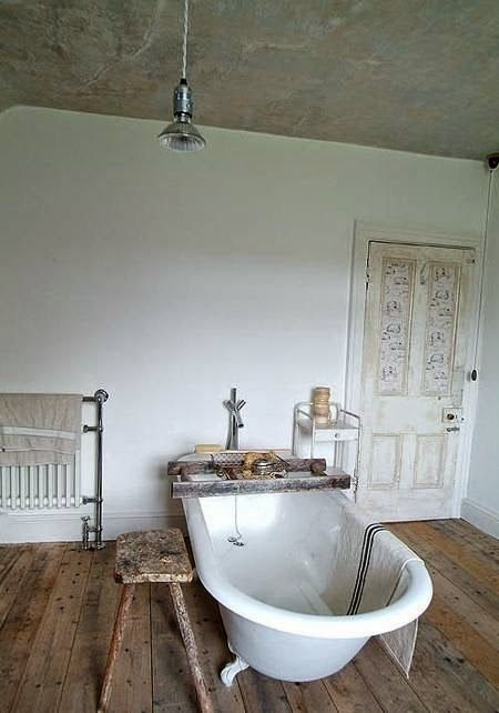 rustic european bath