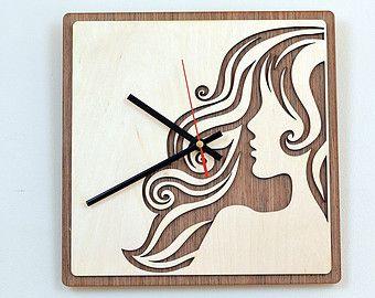 28cm di legno Orologio da parete / Home Decor / Casalinghi / Clock
