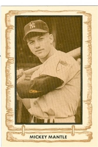 Early Mickey Mantle Baseball Card