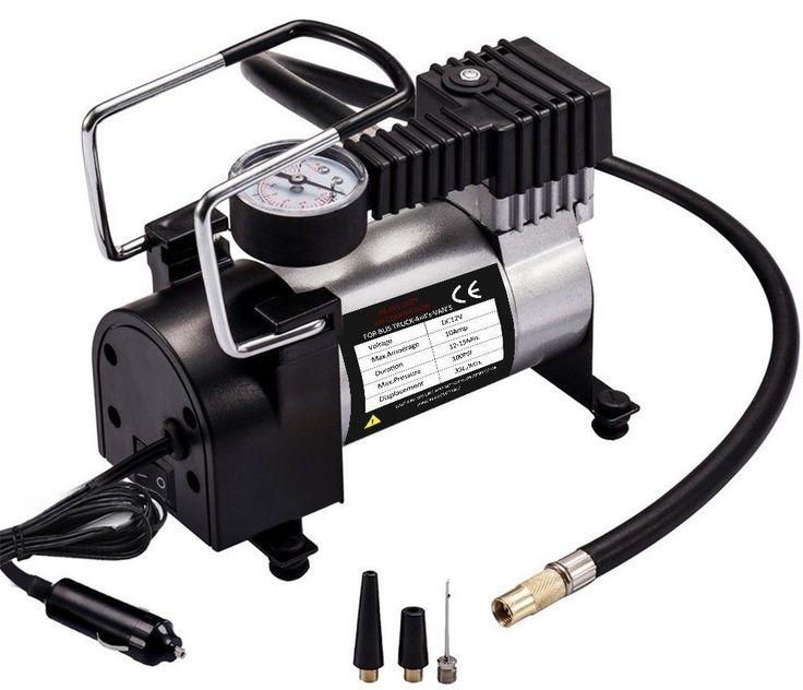 Car Air Pump 100 PSI Air Compressor 12V DC Portable Tire Inflator Cigarette Plug #Teetox