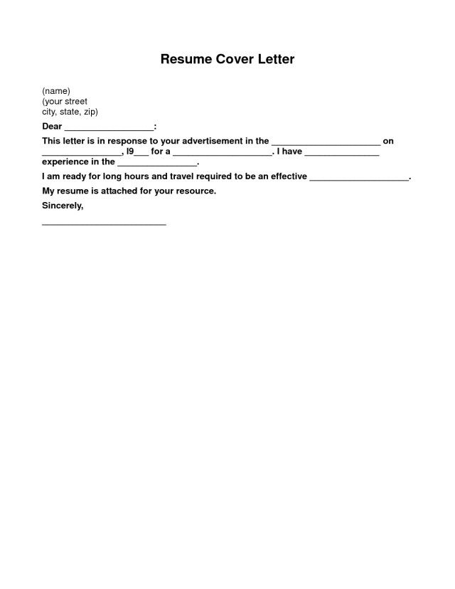 26+ Cover Letters For Resumes Free Cover Letter Tips Sample