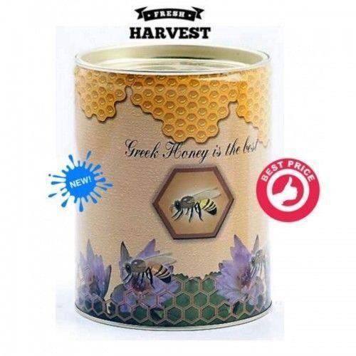 Thyme and Pine Raw Honey Tin Can 250g from mountain Rsiloriti Crete island #CreteHoney