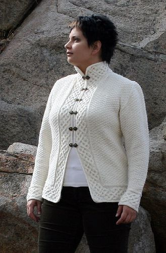 Pohjan Neito Cable Cardigan free knitting pattern and more cardigan sweater knitting patterns