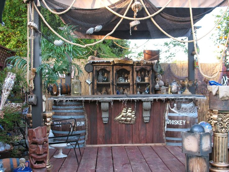 Belly up to the pirate bar back yard pinterest