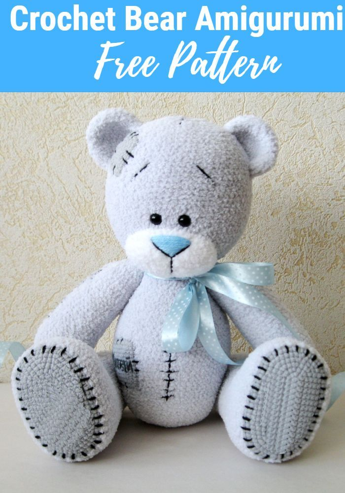 Elegant Free Crochet Teddy Bear Pattern | Crochet teddy bear ... | 1000x700