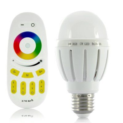 6W RGB LED Light Bulb - Remote Control | http://www.chinavasion.com/china/wholesale/LED_Lights/Special_LED_Lights/6W_RGB_LED_Light_-_Remote_Control/