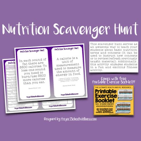 Health lesson Plans high school nutrition