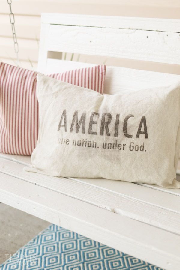Show off your patriotism by making this patriotic pillow or printing off these patriotic printables. Take the printable and learn how to transfer the image right onto fabric for your pillow.