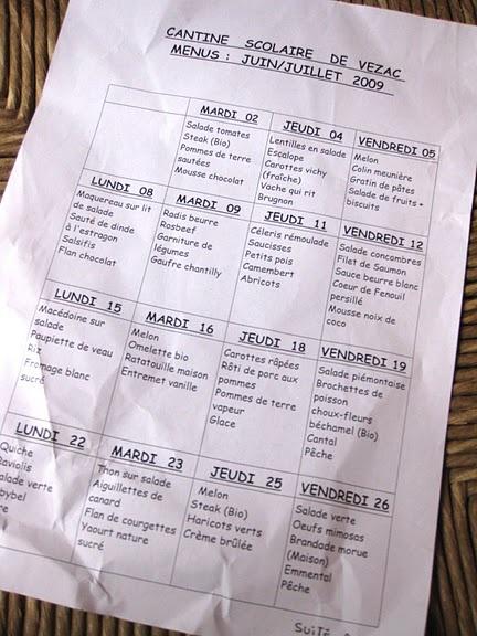 french school lunch menu. they got it right.