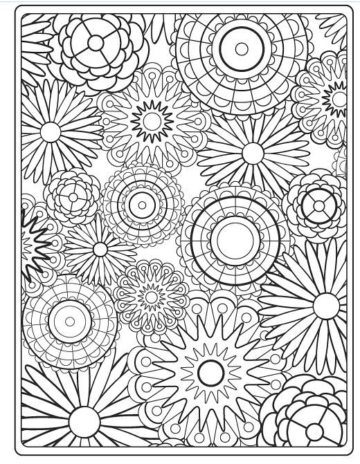 Coloring page flowers inkleur pinterest coloring for Circle pattern coloring pages