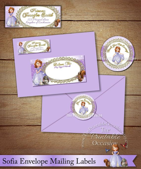 17 Best images about Sophia The First Birthday Invitations and – How to Address a Birthday Card