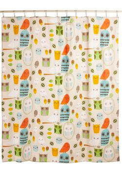 Shower Power Shower Curtain In Owl Clean Modcloth If We Must Have A Shower