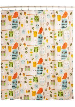 Shower Power Shower Curtain in Owl Clean: Cute Shower Curtains, Showers, Clean Shower Curtains, Kids Bathroom, Owl Clean, Power Shower, Kid Bathrooms, Owl Shower, Shower Power
