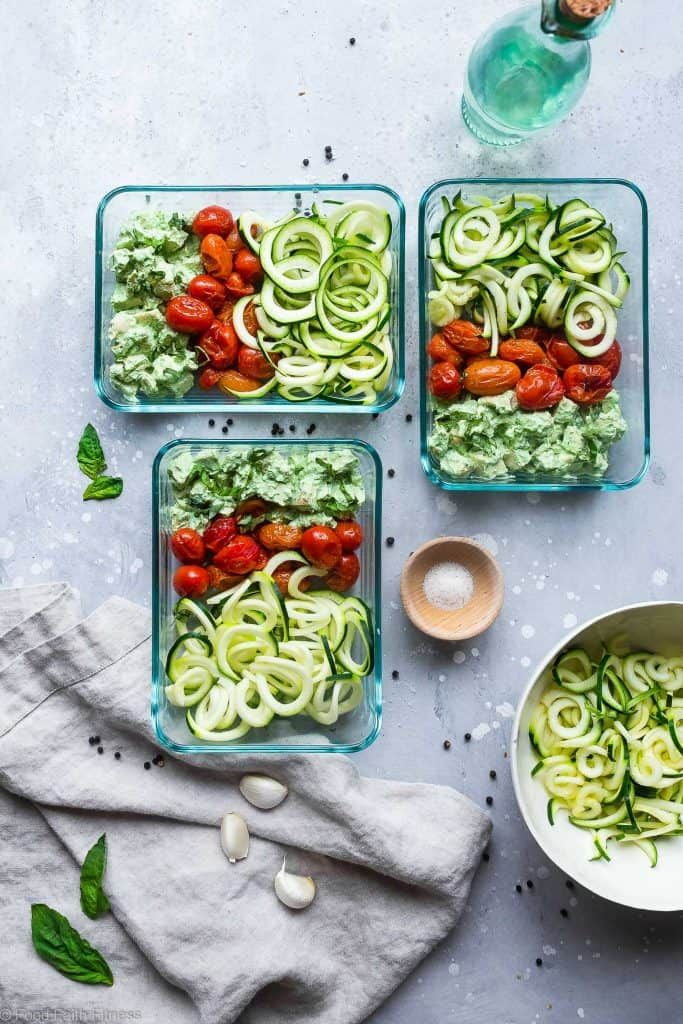 These Pesto Chicken Meal Prep Bowls Are An Easy Low Carb Gluten