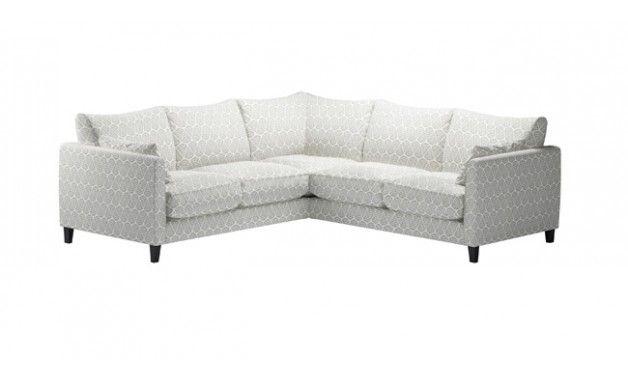 Grey and cream corner sofa for cinema room