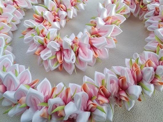 Cherry Blossom hawaiian ribbon lei