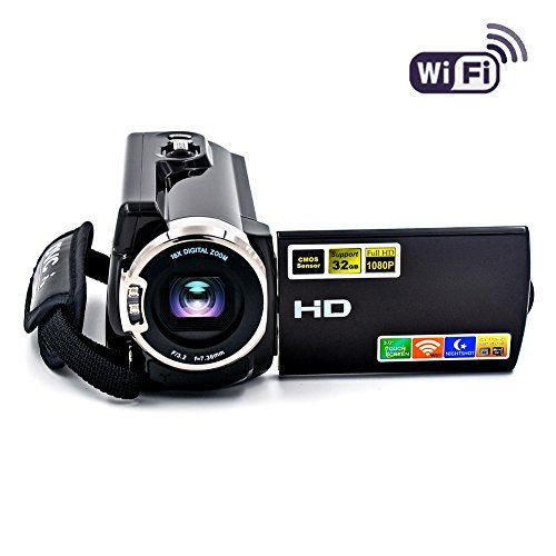 SEREE Camcorder WIFI Video Camera FHD 1080P 60FPS Night Vision Camcorder 20MP 16X Digital Zoom 3 Inch Touch Screen  This camcorder has compact and beautiful design, it can be well loaded in your pocket or handbag. Max. image resolution at 20.0 MP and video resolution at FHD 1080p. 3 inch of touch screen helps for easy operation. 16x digital zoom can help enlarge your picture.  WIFI connection is available, so you can preview images and control operations by connecting your smart phone ...