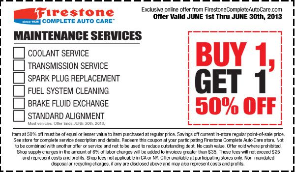 Coupons for firestone services