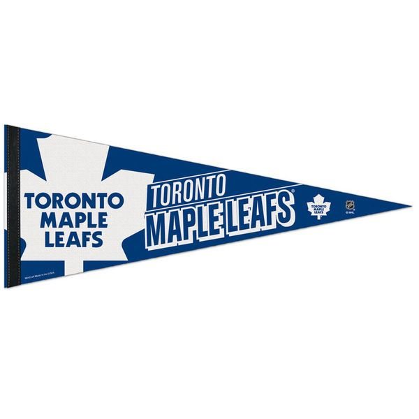 "Toronto Maple Leafs WinCraft 12"" x 30"" Premium Pennant - $9.99"