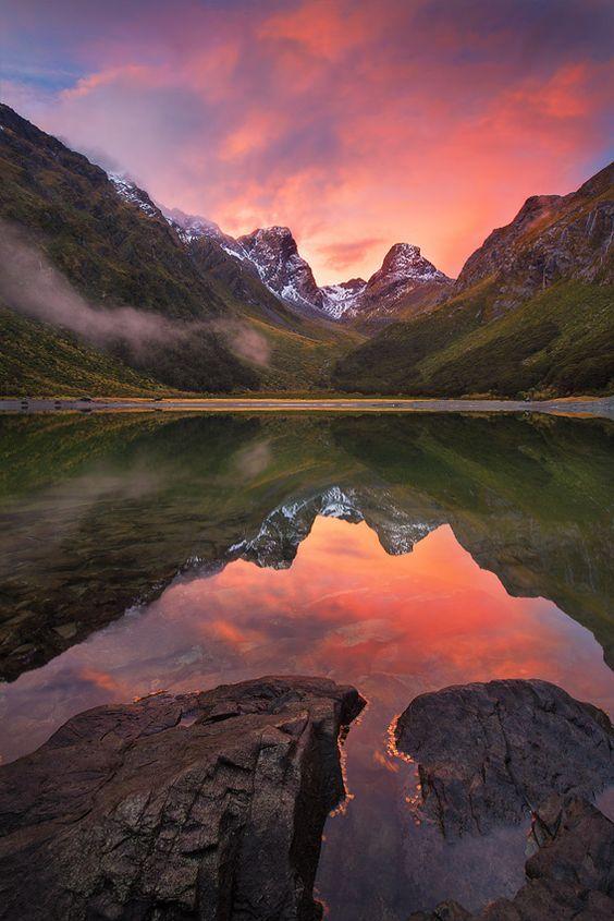 New Zealand Travel Inspiration - Lake Mackenzie - New Zealand. Pinned by Ian Anderson http://ianandersonfineart.com