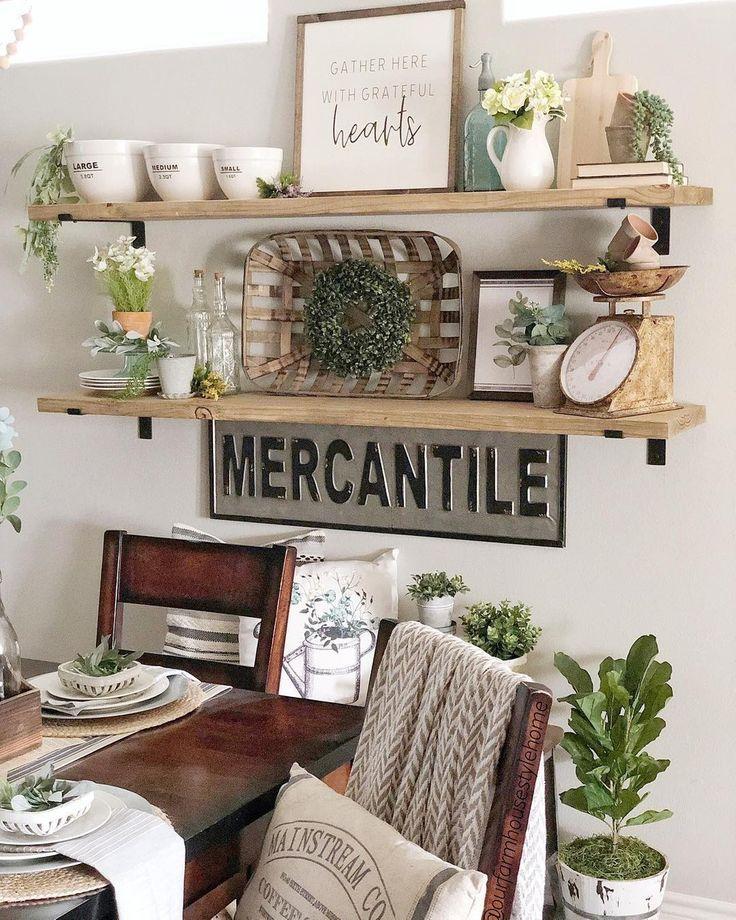 23++ Farmhouse dining room shelves ideas