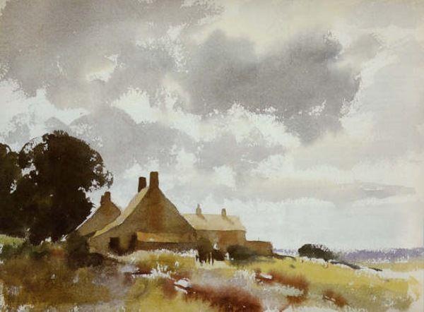 Edward Seago (1910-1974) Norfolk Cottages