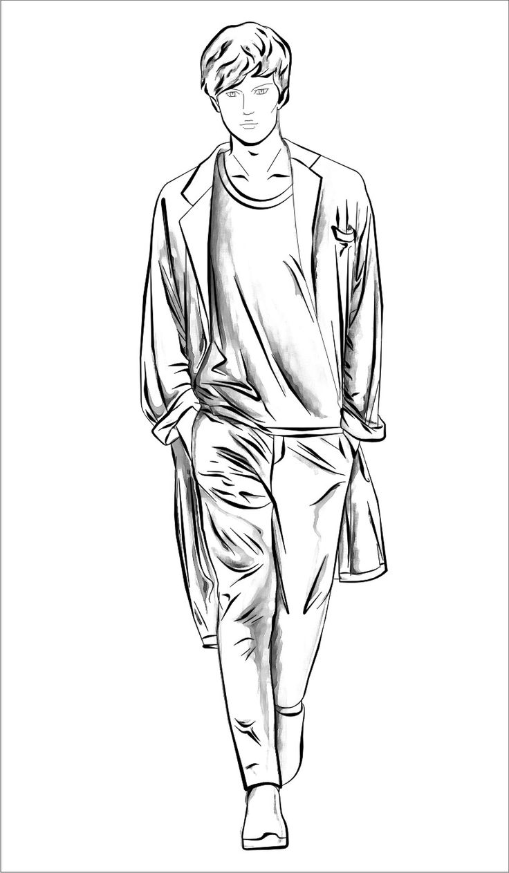 17 Best images about men fashion sketch on Pinterest ...