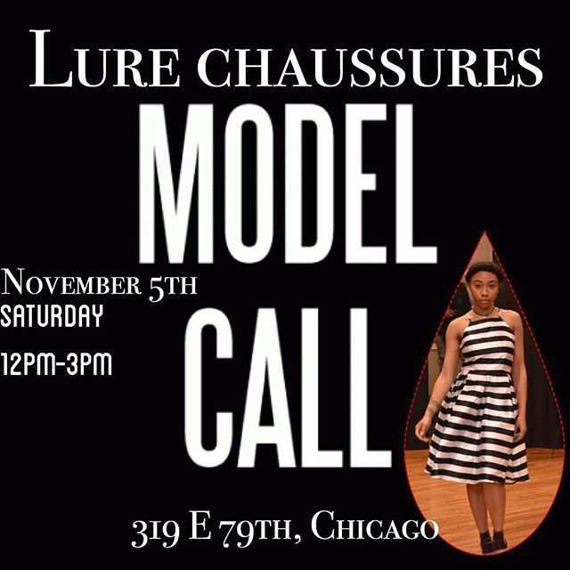 Model Casting Call — Think you have what it takes? We are looking for models of all sizes to walk in our 1st fashion show!!! Meet us tomorrow at the store 319 E 79th st from 12pm-3pm to walk for our panel. Must be able to walk in heels. See you tomorrow!     Must bring heels (no wedges), all black fitted attire preferably, must be confident ALL SIZES  No FEE!  #chicago #modelcall #chicagoboutique
