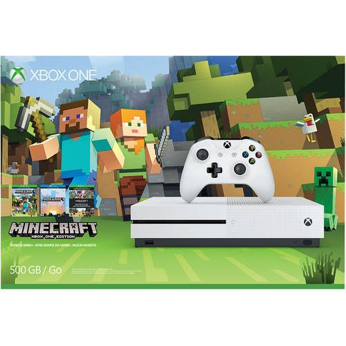 Buy Xbox One S 500GB Console with Minecraft (Xbox One) only $249  Today You can buy Xbox One S 500GB Console with Minecraft (Xbox One) only $249 at Walmart store. This product is being trending now with discounted price.  Buy Now only $249. Limited Offer!  About this products  Brands: Microsoft  Models: 889842133073  Today Price: $249  Ratings: 4.426 of 5 stars  Order the Xbox One S Minecraft Favorites Bundle (500GB) featuring full game downloads of Minecraft for Xbox One and Windows 10…