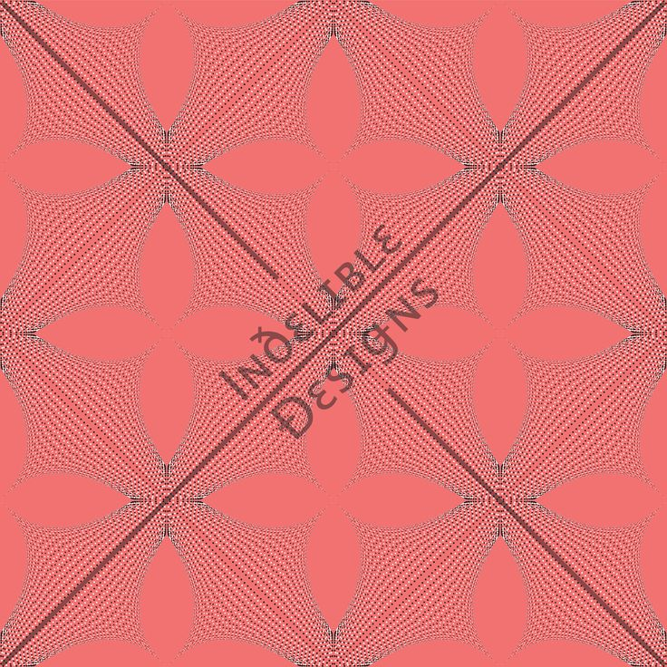 ID#25CE — Iɴðɛʟɪʙʟɛ Ðɛsɪǥɴs #screenprint #printdesign #textiledesign #textileprint #salmon #pink #linear #fan #layer #white #black #dots #perspective #line #shape