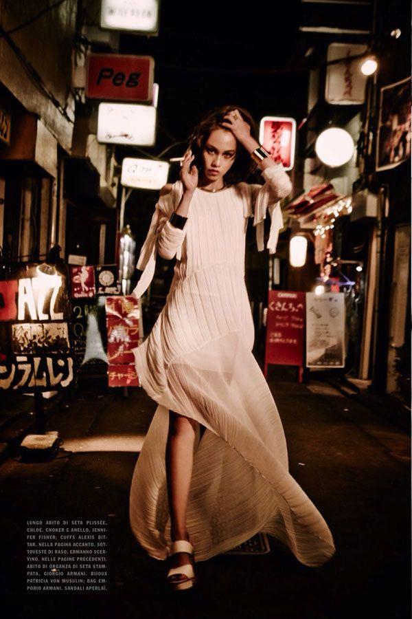 Kiko Mizuhara By Ellen von Unwerth For Vogue Italia January 2014