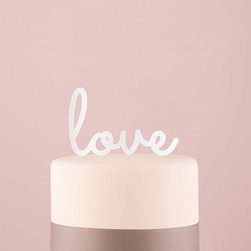 Tortenfigur Acrylglas Love - verschiedene Farben   Hochzeitideal.de