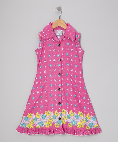 Take a look at this Pink Floral Mod Sundress - Infant, Toddler & Girls by Vintage Circus on #zulily today!