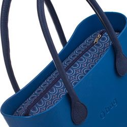Canvas Inner Bag - Blue Pattern - O bag Accessory by Fullspot