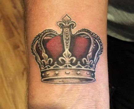 Royal King Crown Tattoos From: TattoosWin.com/