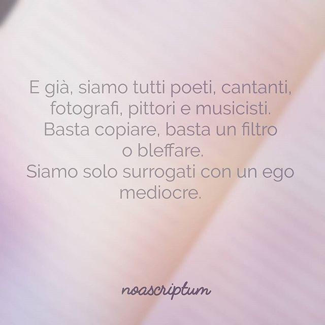 Caro Diario - #noascriptum_carodiario_ #carodiario #iomicito #poesia #frasi #pensierieparole #riflessioni #aforismi #arte #artisti #fotografia #pittura #cantanti #musica  #mediocre #surrogate #surrogato #beyourself #dontcopy #read #feedyoursoul #italianpoetry #italy