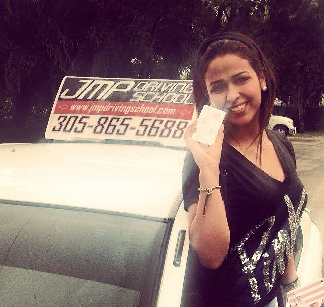 She got her license with JMP Driving School http://goo.gl/iWOAGi