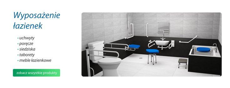 Wyposażenie łazienki dla niepełnosprawnych: uchwyty i poręcze łazienkowe, wyposażenie szpitali i gabinetów lekarskich,