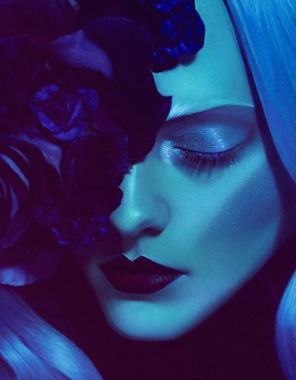 FLOWERBOMB // VISION MAGAZINE by Elizaveta Porodina, via Behance I love the colors and tones of this design/photo. It's breathtaking. The extensive amount of harsh makeup paired with the bold flowers is great. I like how the photo looks almost like a painting because of all the makeup on the woman.