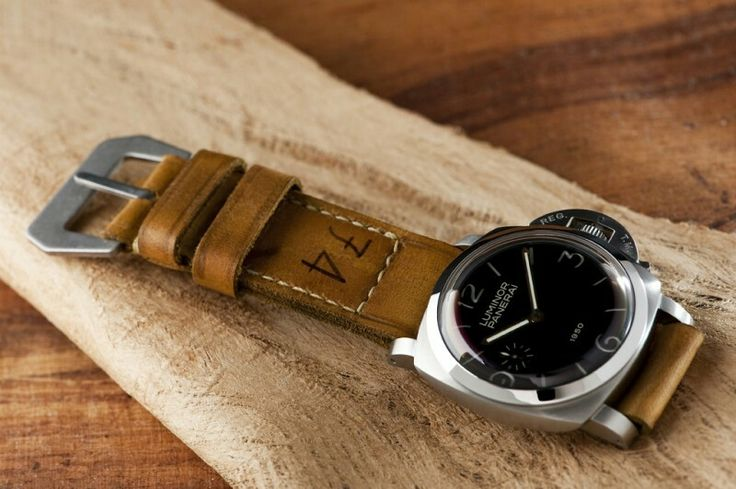 74 strap, Panerai strap, leather strap, watchstraps, Watchband, from Gunny Straps