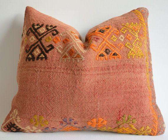 Sukan / 1 Pillow Cover Organic Shine Society Modern Bohemian Throw Pillow. Handwoven Vintage ...