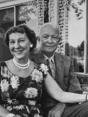 Image detail for -Former President Dwight D. Eisenhower and Wife Mamie at their Farm ...