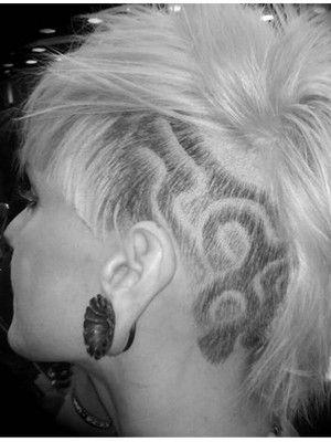 mens' shaved hair design