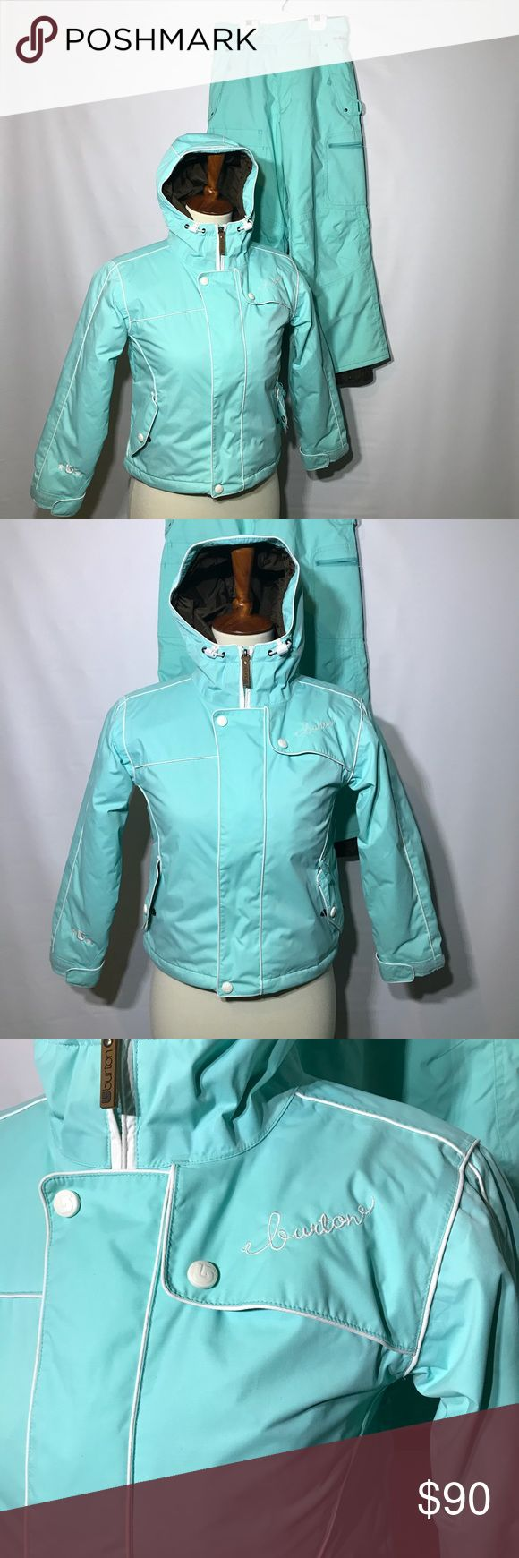 Burton Ski Jacket And Pants Size Small/Medium Burton girls Ski Jacket And Pants Size Small/Medium: The jacket is a size small and is in great condition. The pants are a size medium and they have a small tear in the right front size as well as a small smudge. Burton Jackets & Coats