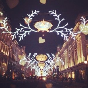 On the 5th day of December see the festive lights outside #Burberry 121 Regent Street. by @Burberry.