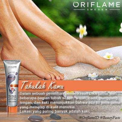 Wah, ternyata kaki itu sarang jamur lho! Duh, rawat dengan baik yuk, biar kaki kita selalu sehat dan segar! ;)) #OriflameID #BeautyFacts