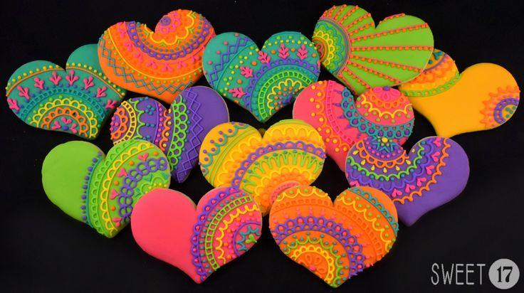Lace Mehndi Sugar Cookies sweet17Cookies.Etsy.com