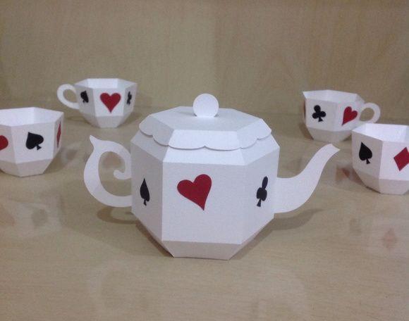 Jogo de chá Alice no País das Maravilhas